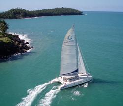 Iles du Salut en catamaran